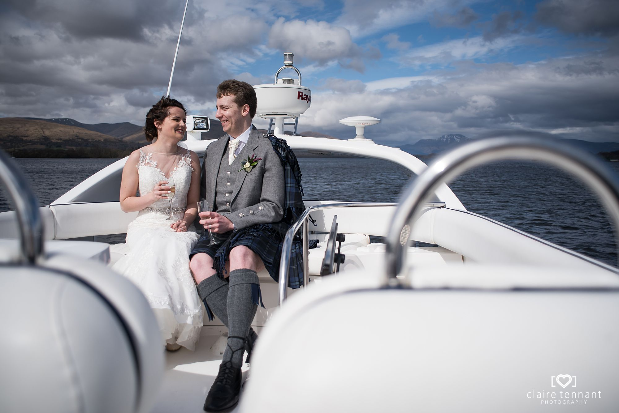 Springtime Outdoor Wedding At The Cruin, Loch Lomond